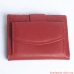 Women Wallet - top grain leather - LARGE COIN POCKET BIFOLD RED