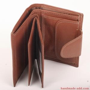 Women Unisex Wallet - top grain leather - LARGE COIN POCKET BIFOLD